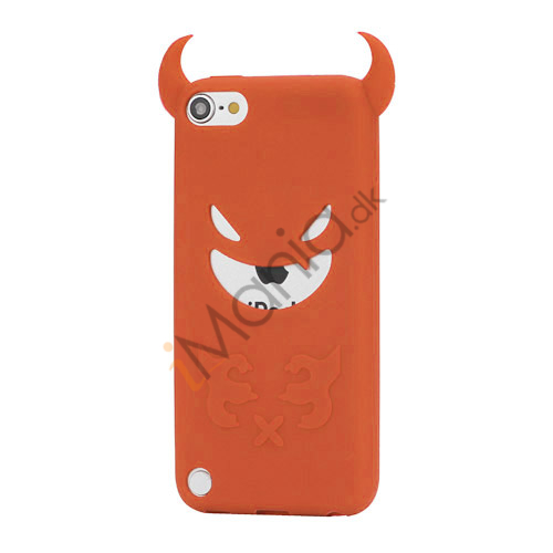 Image of   Djævel, blød Silikone Skin Case Cover til iPod Touch 5 - Orange
