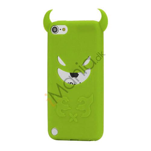 Djævel, blød Silikone Skin Case Cover til iPod Touch 5 - Grøn