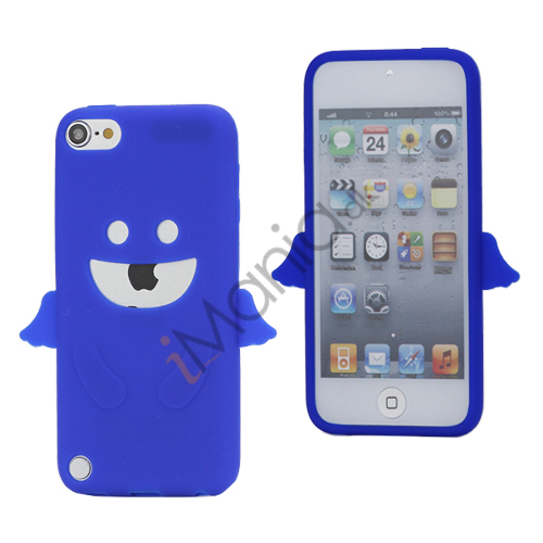 Image of   Smilende Engel, Blød Silikone Flex Gel Etui til iPod Touch 5 - Mørkeblå