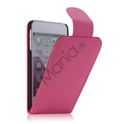 Image of   Tyndt Lodret PU Læder Case Cover med kortpladser til iPod Touch 5 - Rose