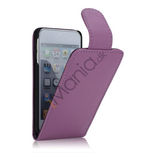 Image of   Tyndt Lodret PU Læder Case Cover med kortpladser til iPod Touch 5 - Lilla