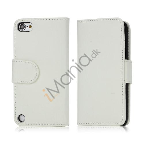 Magnetisk Kunstlæder Kreditkort tegnebog Cover til iPod Touch 5 - Hvid