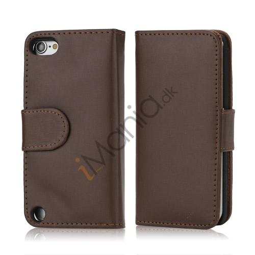 Image of   Magnetisk Kunstlæder Kreditkort tegnebog Cover til iPod Touch 5 - Brown