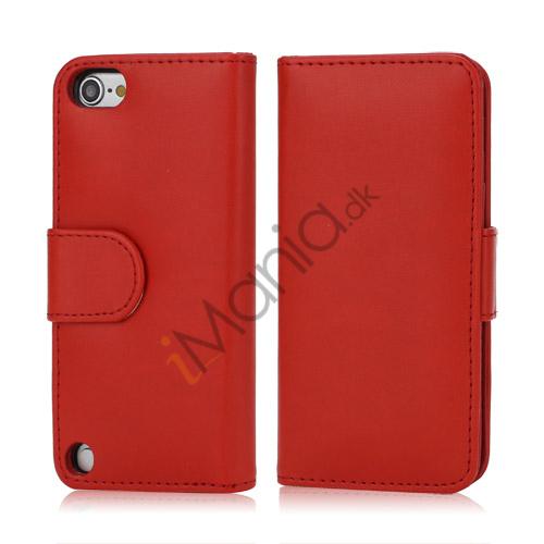 Image of   Magnetisk Kunstlæder Kreditkort tegnebog Cover til iPod Touch 5 - Rød