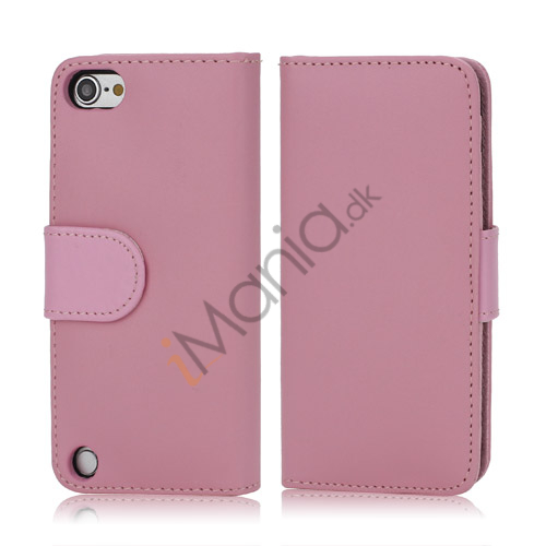 Magnetisk Kunstlæder Kreditkort tegnebog Cover til iPod Touch 5 - Pink