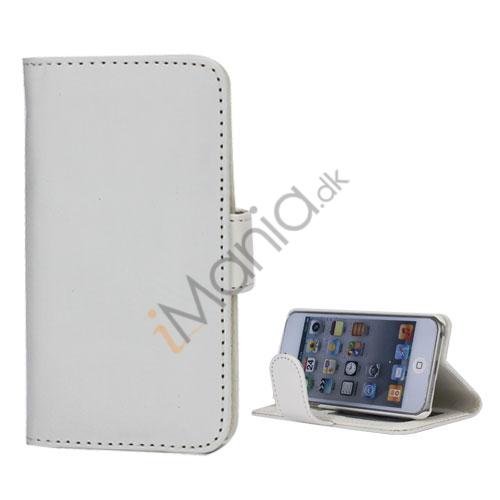 Folio Holder Lædertaske Flip Kreditkort tegnebog Cover til iPod Touch 5 - Hvid