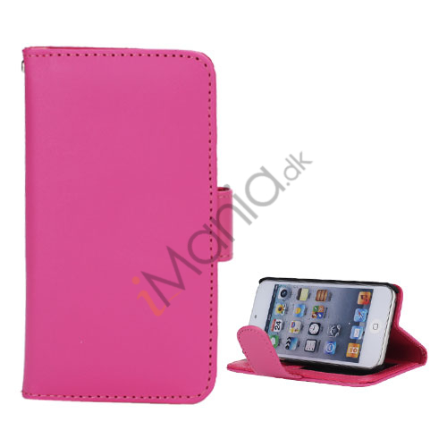 Image of   Folio Holder Lædertaske Flip Kreditkort tegnebog Cover til iPod Touch 5 - Rose
