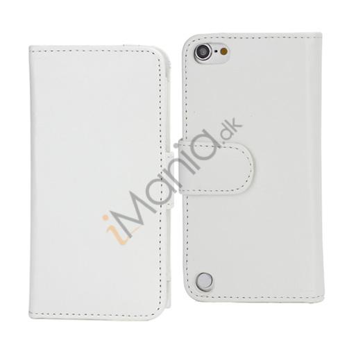 Magnetisk Folio Bog Læder Kreditkort tegnebog taske til iPod Touch 5 - Hvid
