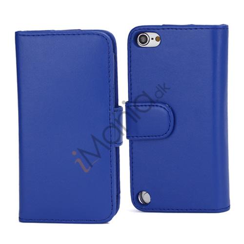 Magnetisk Folio Bog Læder Kreditkort tegnebog taske til iPod Touch 5 - Blå