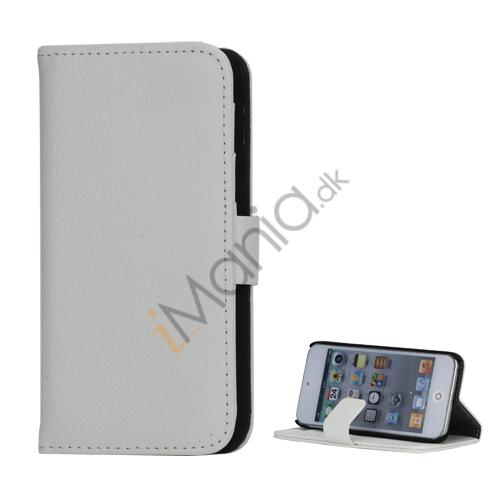 Mønstret med Kreditkortholdere Læderetui Cover til iPod Touch 5 - Hvid