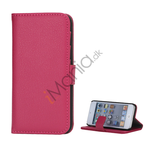 Mønstret med Kreditkortholdere Læderetui Cover til iPod Touch 5 - Rose