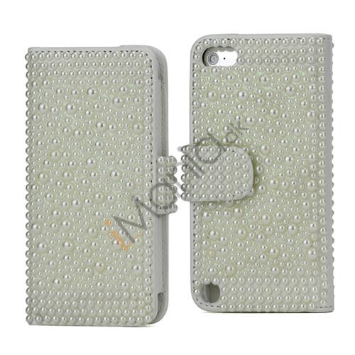 Luksuriøs Perle Kreditkort Tegnebog Læder Taske til iPod Touch 5