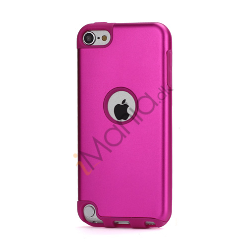 Image of   Blankt aluminum Kombineret Silikone Hard Back Case til iPod Touch 5 - Rose