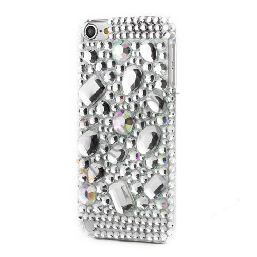 Luksuriøse Uregelmæssige Krystaller Stor Størrelse Smykkestens Hard Back Case til iPod Touch 5