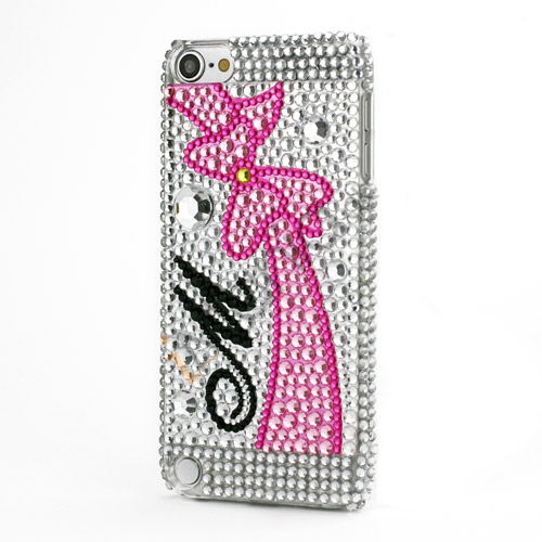 Sløjfe Hard Back Case helt dækket med Bling Diamant Smykkesten til iPod Touch 5