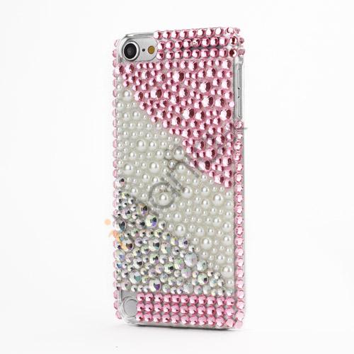 Glitrende Smykkesten og Perler Krystal Beskyttende Case til iPod Touch 5