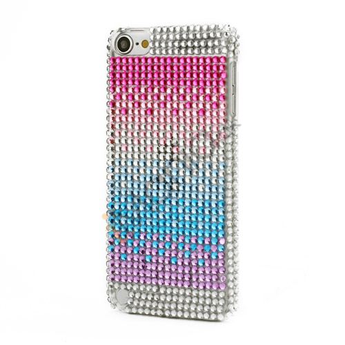 Regnbue Bling Smykkesten Krystal Hard Case Cover til iPod Touch 5