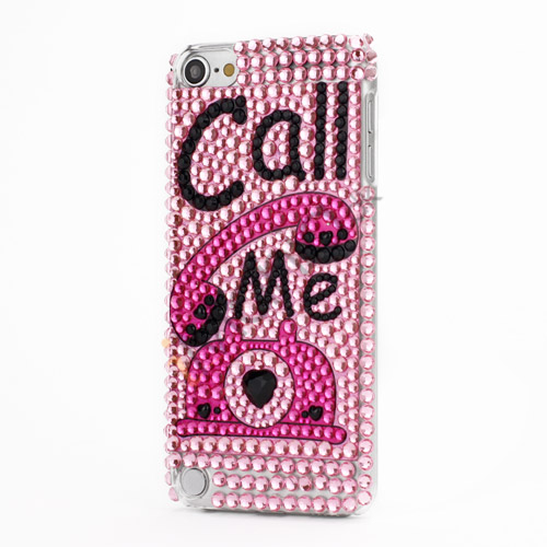 "Luksuriøst ""Call Me"" Snap-on Diamant Krystal Case til iPod Touch 5"