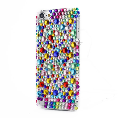 Farverige Diamanter Snap-on Hard Case Cover Skin til iPod Touch 5