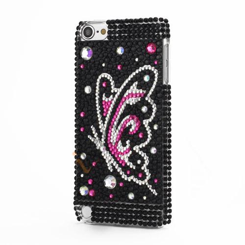 Elegent Sommerfugl krystal 3D Diamante Krystal Skal Cover til iPod Touch 5