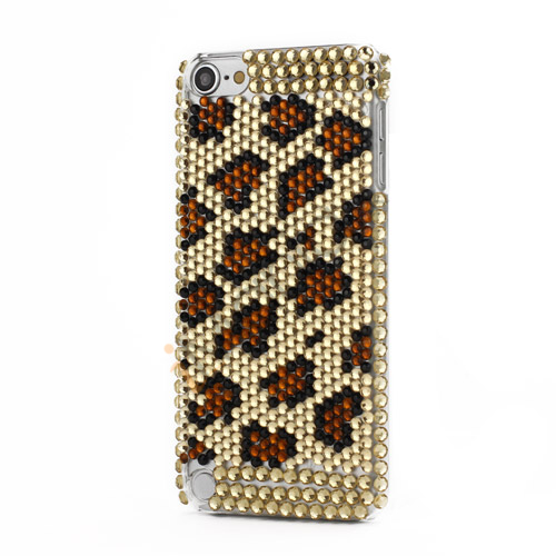 Bling Diamant Krystal Smykkesten Full Cover Case for iPod Touch 5 Leopard Cheetah