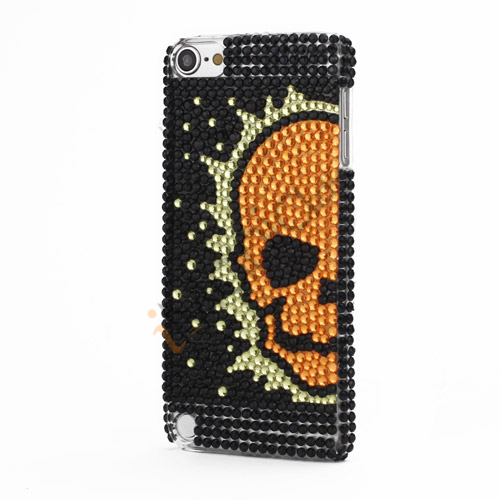 Dødningehoved Bling Glitter Krystal Diamant Case Cover til iPod Touch 5