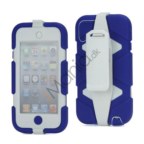Ekstremt holdbart Hybrid Hard Case til iPod Touch 5 med bælteclip - Hvid / Mørk Blå