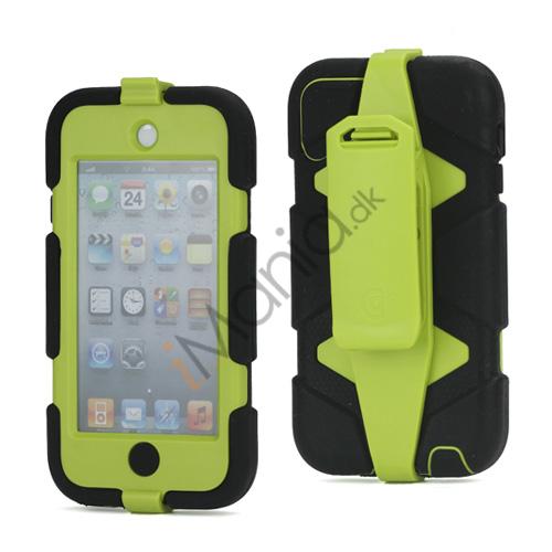 Ekstremt holdbart Hybrid Hard Case til iPod Touch 5 med bælteclip - Sort / Grøn