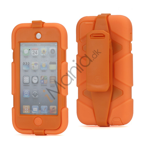 Image of   Ekstremt holdbart Hybrid Hard Case til iPod Touch 5 med bælteclip - Orange