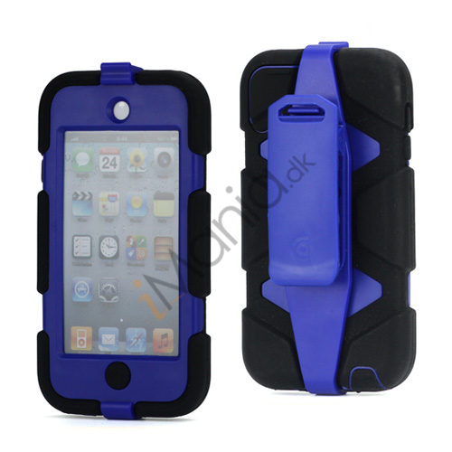 Ekstremt holdbart Hybrid Hard Case til iPod Touch 5 med bælteclip - Sort / Mørk Blå