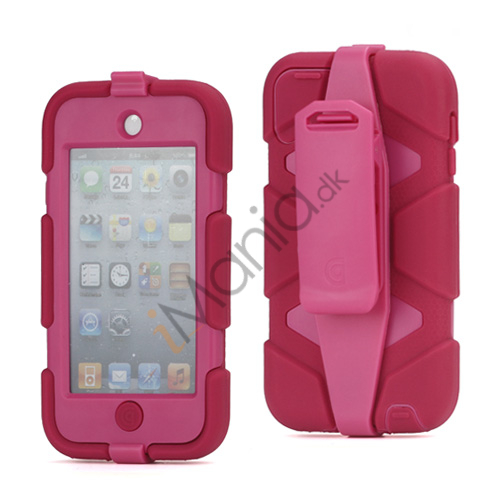 Image of   Ekstremt holdbart Hybrid Hard Case til iPod Touch 5 med Belt Clip - Pink / Rose