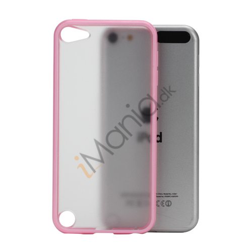 Blankt Hard Back Case til iPod Touch 5 med Soft TPU Kants - Pink