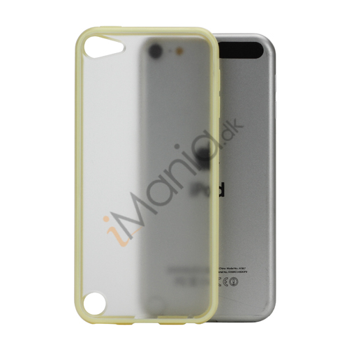 Blankt Hard Back Case til iPod Touch 5 med Soft TPU Kants - Gul