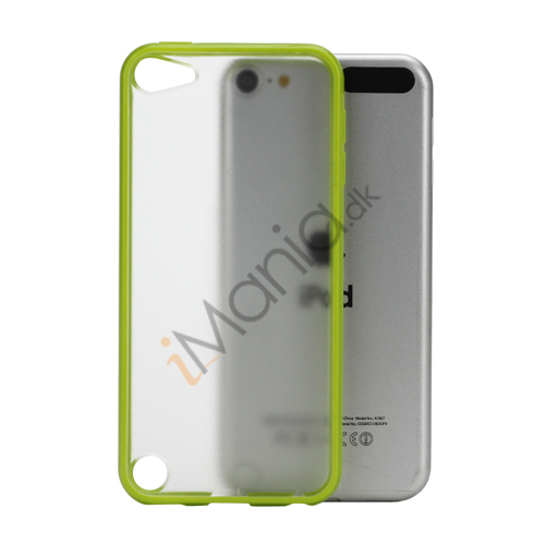 Image of   Blankt Hard Back Case til iPod Touch 5 med Soft TPU Kants - gulgrønt
