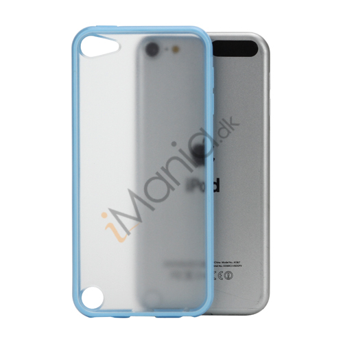 Image of   Blankt Hard Back Case til iPod Touch 5 med Soft TPU Kants - Lyseblå