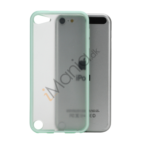 Image of   Blankt Hard Back Case til iPod Touch 5 med Soft TPU Kants - lysegrøn