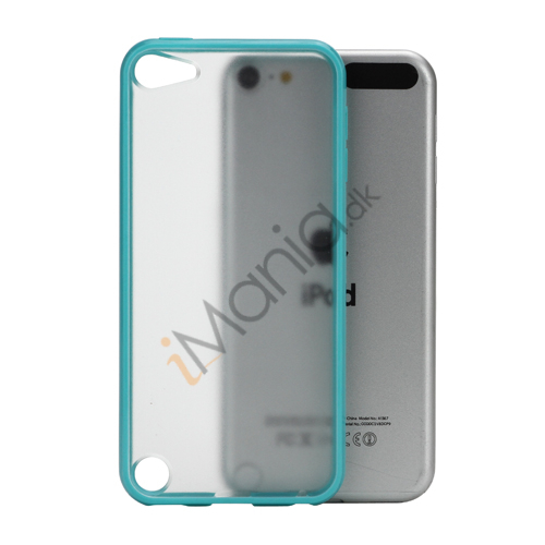 Image of   Blankt Hard Back Case til iPod Touch 5 med Soft TPU Kants - Cyan