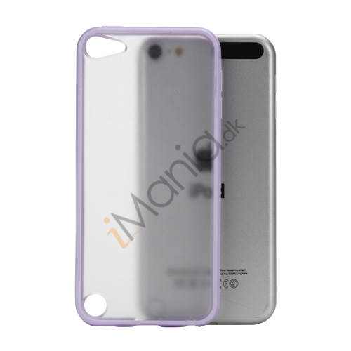 Image of   Blankt Hard Back Case til iPod Touch 5 med Soft TPU Kants - Lilla