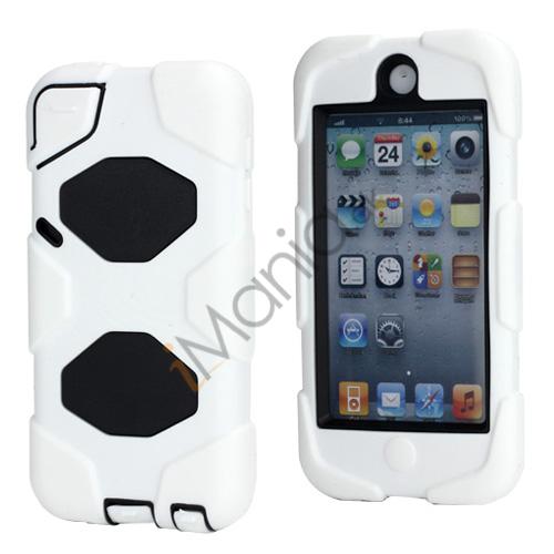 Stødsikkert Hybrid Hard Case til iPod Touch 5 med Beskyttelses Film - Sort / Hvid