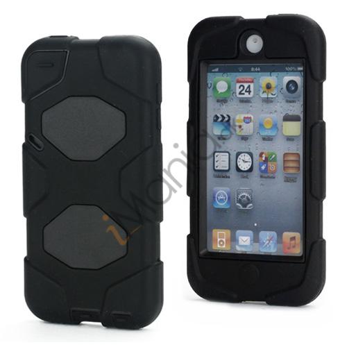 Stødsikkert Hybrid Hard Case til iPod Touch 5 med Beskyttelses Film - Sort