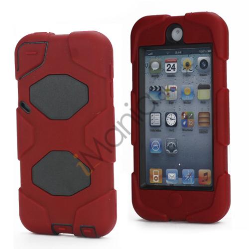 Stødsikkert Hybrid Hard Case til iPod Touch 5 med Beskyttelses Film - Sort / Rød