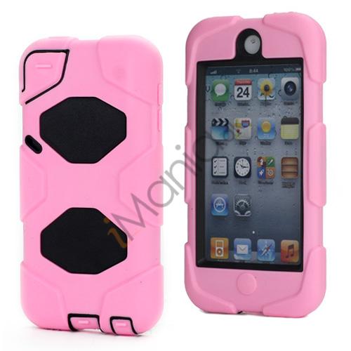 Stødsikkert Hybrid Hard Case til iPod Touch 5 med Beskyttelses Film - Sort / Pink