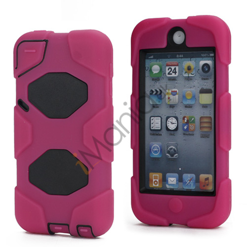 Stødsikkert Hybrid Hard Case til iPod Touch 5 med Beskyttelses Film - Sort / Rose