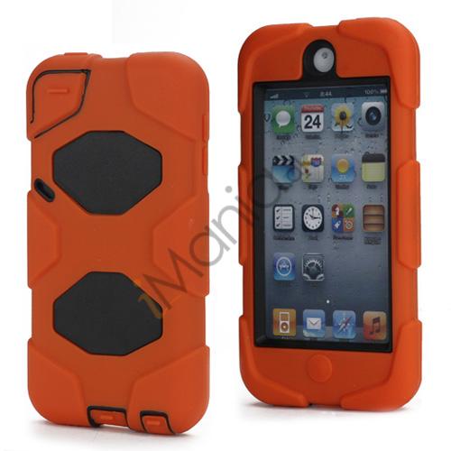 Stødsikkert Hybrid Hard Case til iPod Touch 5 med Beskyttelses Film - Sort / Orange