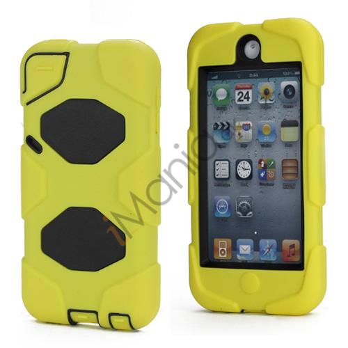 Stødsikkert Hybrid Hard Case til iPod Touch 5 med Beskyttelses Film - Sort / Gul
