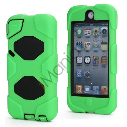Stødsikkert Hybrid Hard Case til iPod Touch 5 med Beskyttelses Film - Sort / Grøn