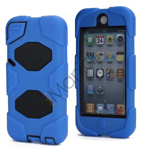 Stødsikkert Hybrid Hard Case til iPod Touch 5 med Beskyttelses Film - Sort / Blå