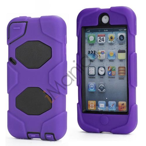 Stødsikkert Hybrid Hard Case til iPod Touch 5 med Beskyttelses Film - Sort / Lilla