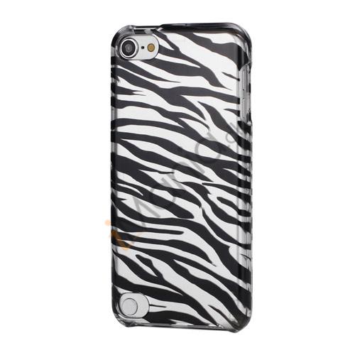 Image of   Zebra Striber Combo 2 i 1 Snap-On Hard Case Cover til iPod Touch 5 - Sort / Sølv