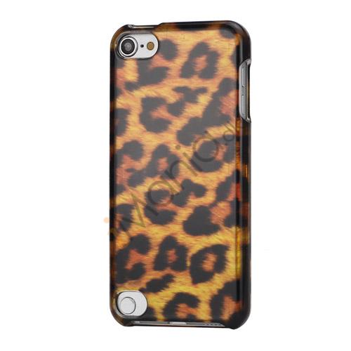 Stilfuld Brown Leopard Design Snap-On 2 i 1 Hard Beskyttende Case til iPod Touch 5